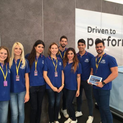Innocean Hyundai WRC Rally: Gruppenbild der Hyundai Promotioncrew